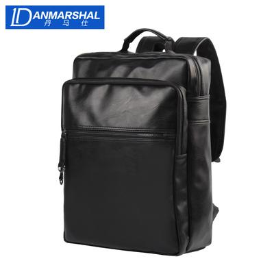 丹马仕男士背包双肩包商务休闲皮包旅行学生书包电脑包时尚男包潮