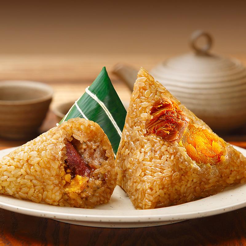 中华老字号,整颗飚油咸蛋黄:100gx4只 广州酒家 利口福 蛋黄肉粽