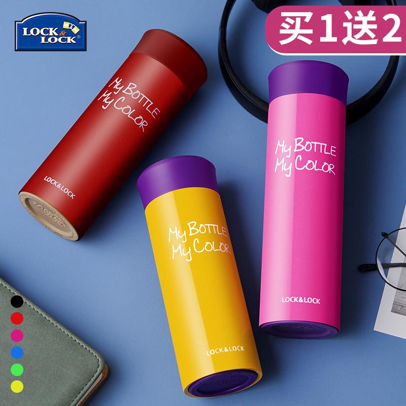 韓國品牌樂扣樂扣真空保溫杯男女士泡茶學生兒童水壺定製便攜水杯