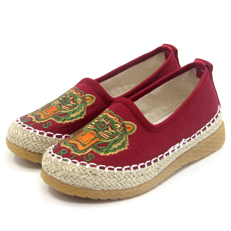 2017新款复古风布鞋牛筋底布鞋男童 民族风儿童布鞋