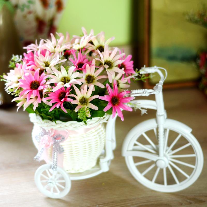 客厅绢花干花束塑料假花仿真花车套装饰品家居盆栽小摆件室内摆设