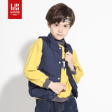 Anti-season clearance Weishi children's wear children's down vest white duck down boys solid color vest wearing vests to keep warm