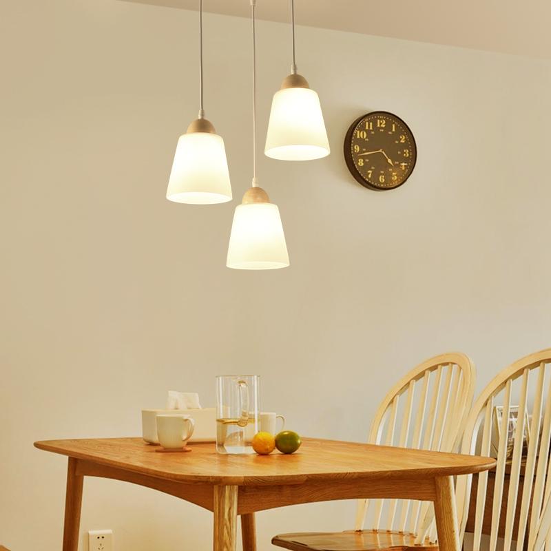 大气家用北欧创意吧台铁艺个姓餐桌灯 led 餐厅灯吊灯三头现代简约