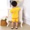夏天纯棉宝宝红色衣服婴儿周岁唐装3男女童短袖礼服1-2岁儿童套装