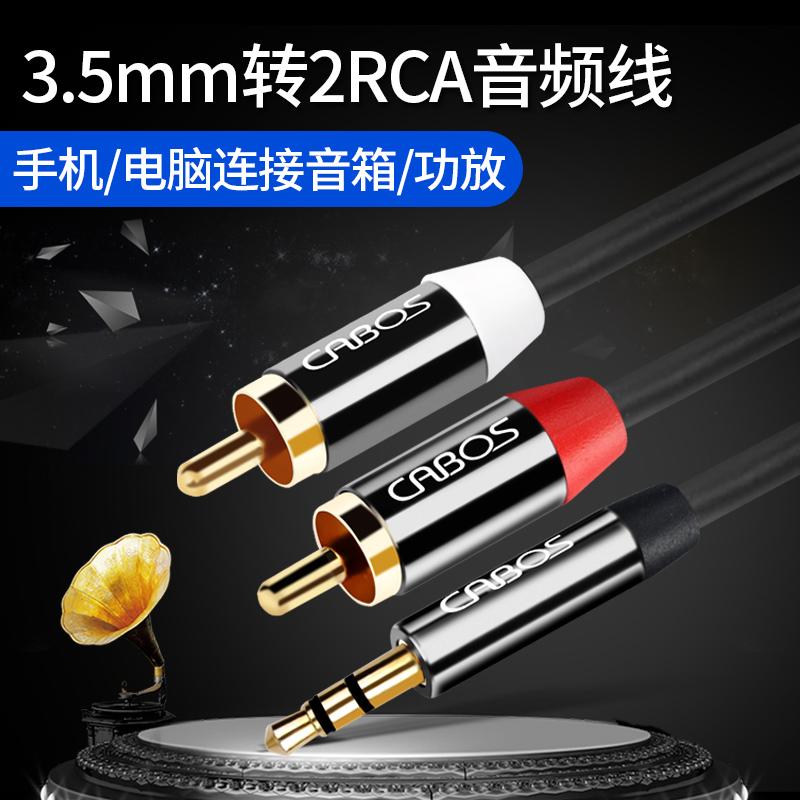 音訊線一分二3.5mm轉雙蓮花頭音箱線電腦一轉二rca音響紅白連線通用加長輸出入1分2一拖二左右聲道aux對連花