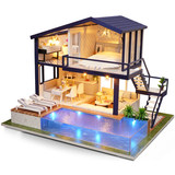 Zhiquya diy hut time apartment handmade creative house assembled model toy birthday gift female