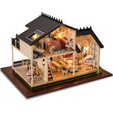 Chi Fun house diy cabin hand-assembled model house Provence villa toys birthday gift ideas female