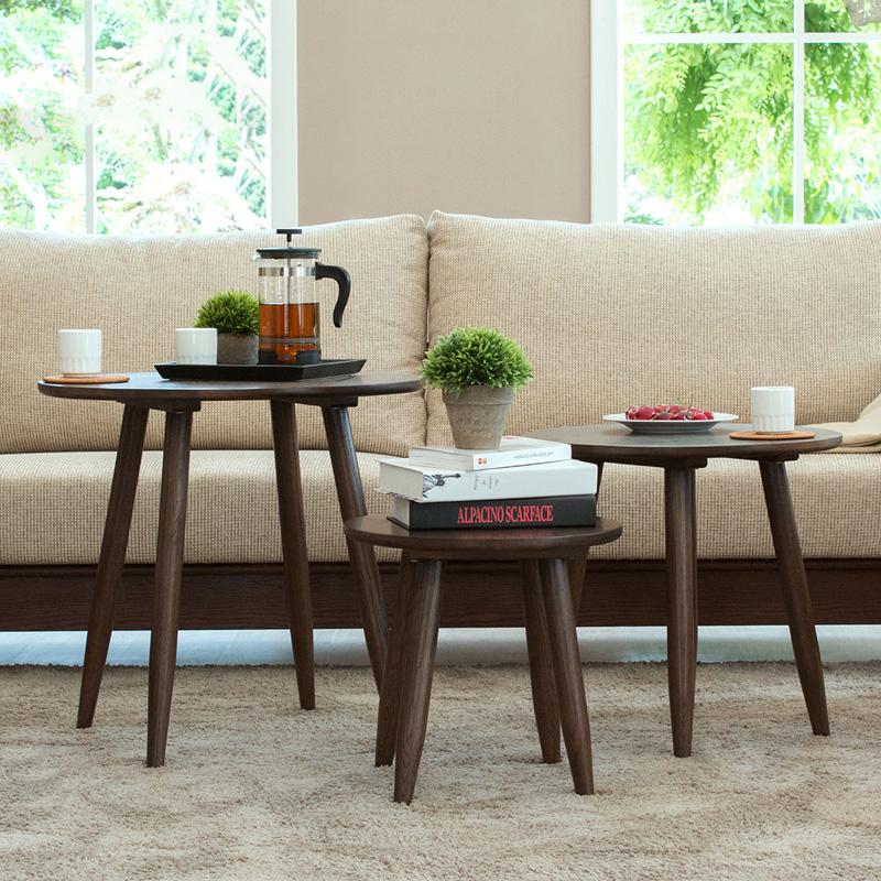 治木工坊 纯实木边几 进口橡木小边几日式客厅角几简约现代咖啡桌