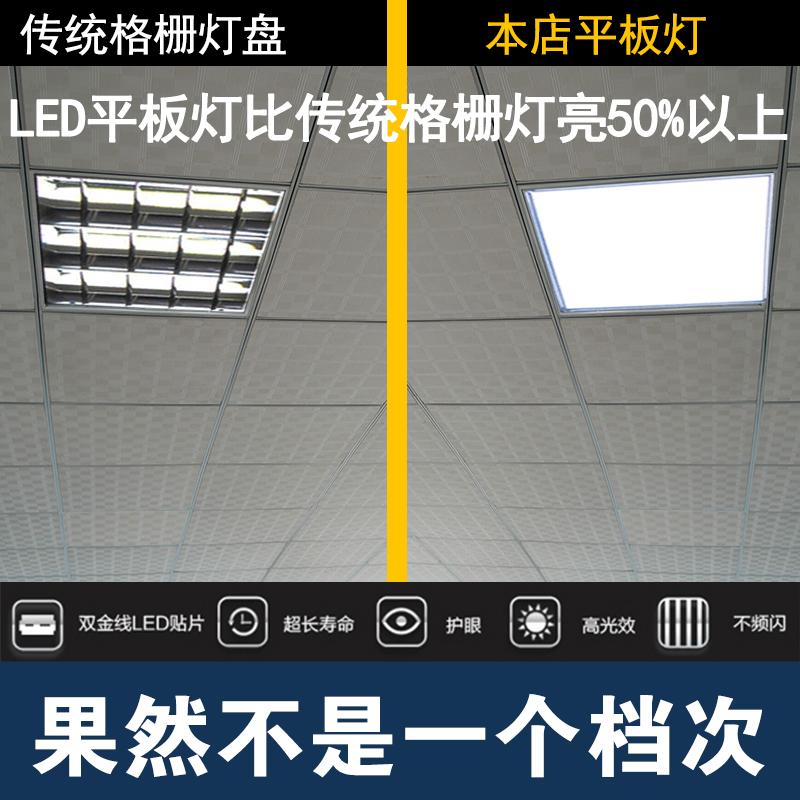 小米集成吊顶600x600led平板灯60x60格栅灯矿棉石膏板面板工程灯