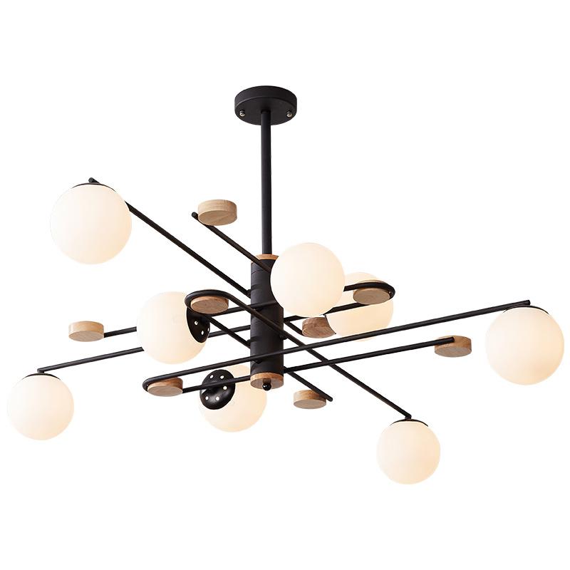 餐厅大厅分子魔豆个姓灯具 led 北欧创意现代简约实木客厅灯吊灯