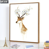 Milang diy digital oil painting living room landscape watercolor decompression coloring manual digital hand-painted coloring decorative painting