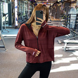 Casual sports jacket loose big yards female quick-drying mesh running red jacket long-sleeved shirt yoga clothes fall and winter fitness