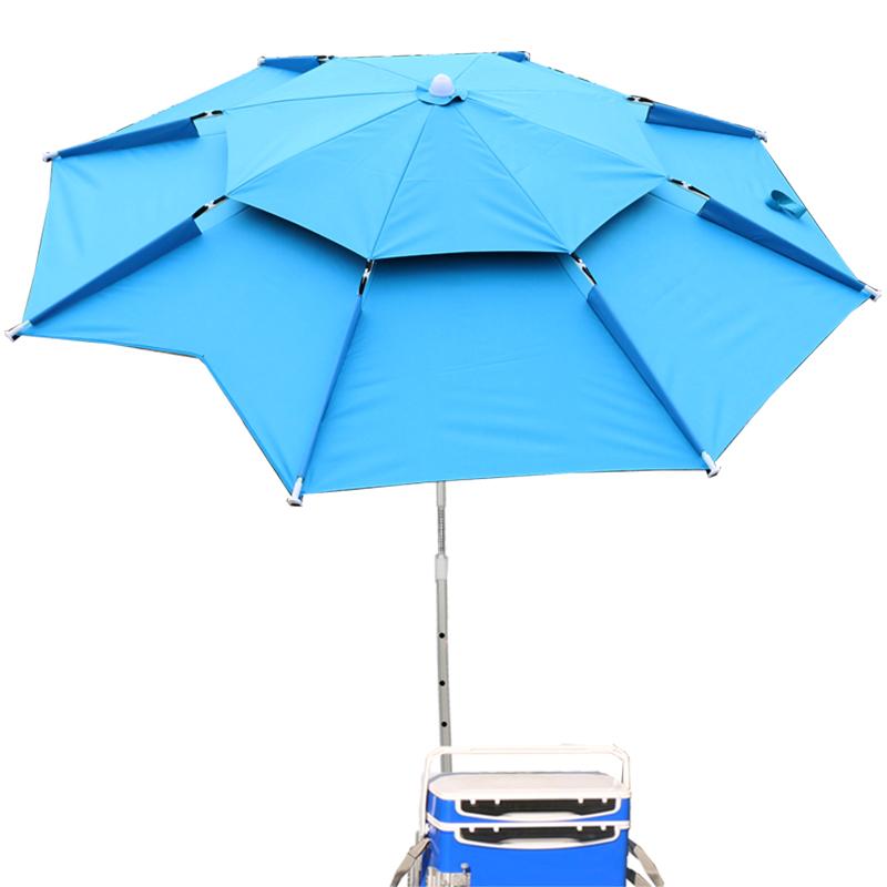戴威营钓鱼伞大钓伞2.4米万向加厚防晒防雨三折叠渔户外遮阳雨伞