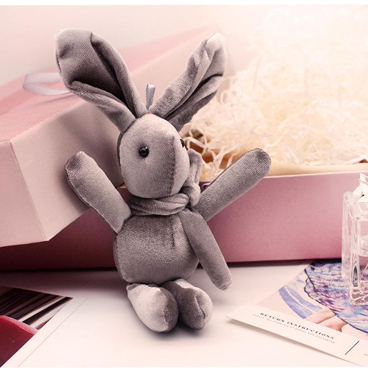 网红丝绒许愿兔子公仔结婚礼伴娘伴手礼盒子创意小玩偶挂件 ins