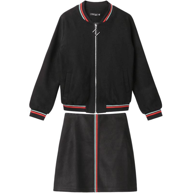 冬新款半身裙休闲套装 2018 梵希蔓上衣配短裙两件套 元新品 219