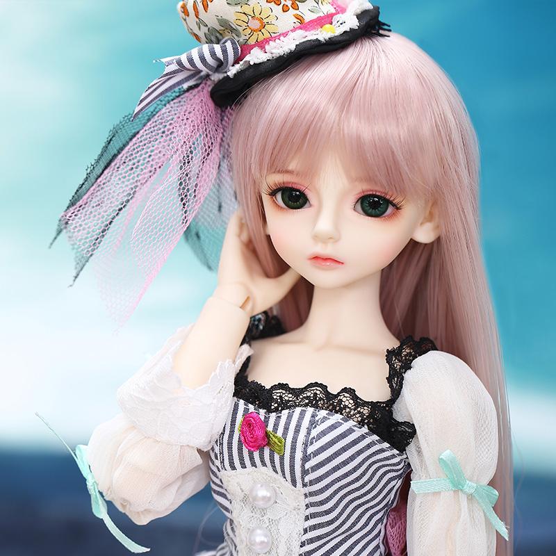 [守护精灵] 4分bjd娃娃 雨涵 公仔女孩玩具 手工美发 实体仿真娃