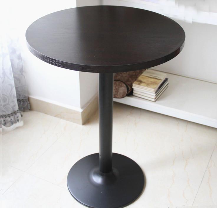 简约现代小圆桌茶几咖啡桌奶茶店快餐桌酒吧台高脚桌洽谈小方桌子