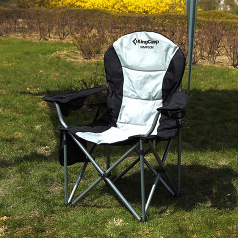 kingcamp椅子户外家具 铁管豪华扶手椅折叠椅导演椅沙滩椅 KC3888