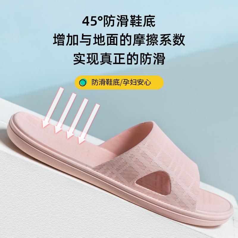 拖鞋女士家用夏天室内浴室防滑居家软底防臭静音冲澡凉拖男夏季
