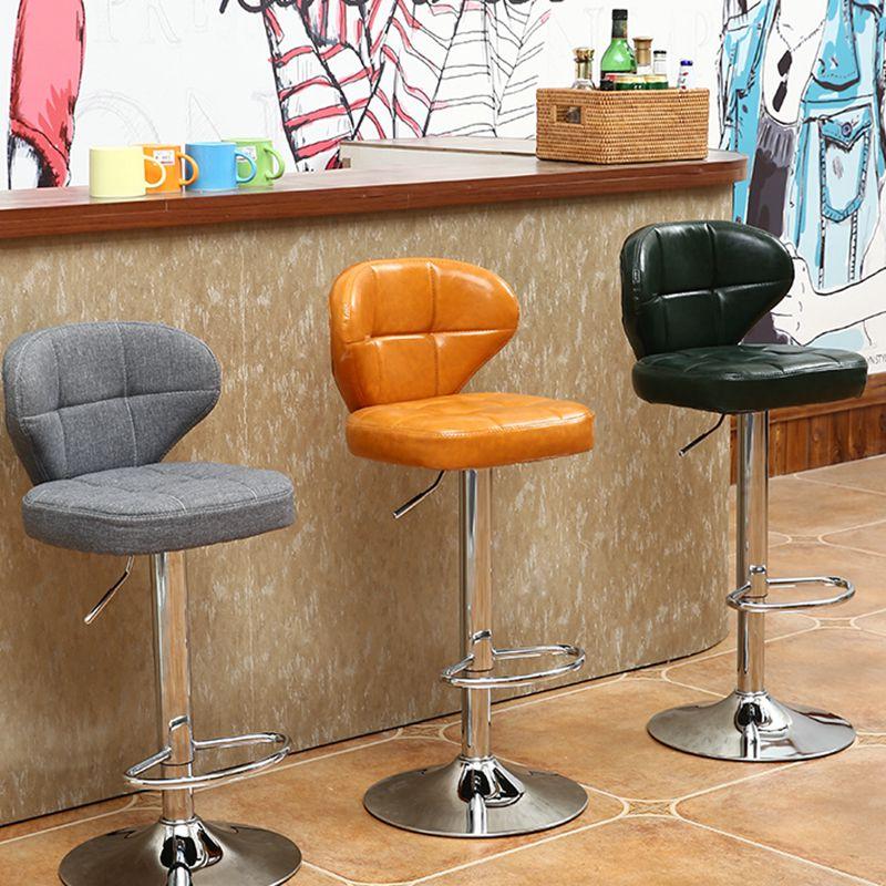 欧式吧台椅酒吧椅高脚桌椅收银吧凳升降旋转前台家用靠背学习椅子