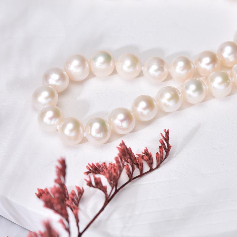 京润遇·纯珍 淡水珍珠项链6-7mm白色珍珠项链首饰珠宝送女友1