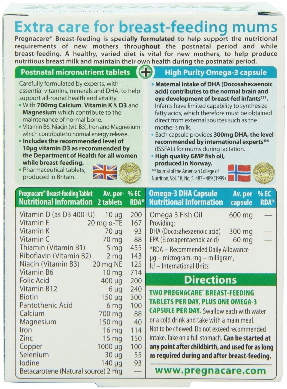 盒价格 6 粒 84 鱼油补钙 DHA 产后哺乳期多种维生素叶酸 Pregnacare 英国