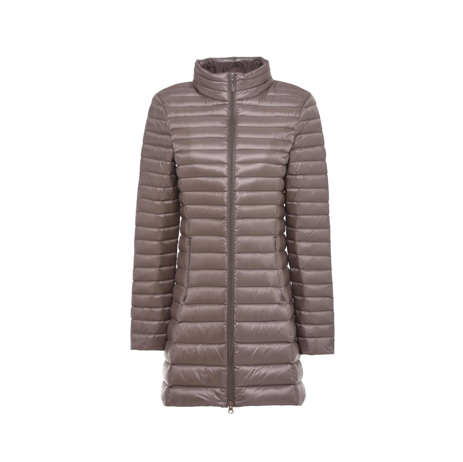 新款特价秋冬装轻薄型羽绒服女中长款修身立领大码胖MM外套妈妈装