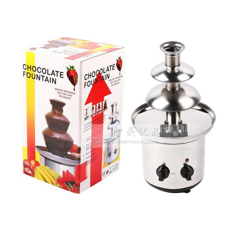 大号三层四层DIY巧克力搅拌 喷泉瀑布炖锅 熔浆机 自动融化塔包邮