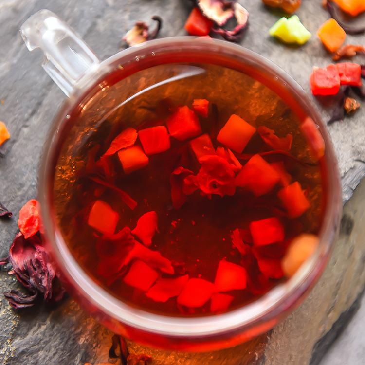 水果干德国巴黎香榭山楂玫瑰茄花洛神 水果茶干 1000g 果粒茶 罐装 5