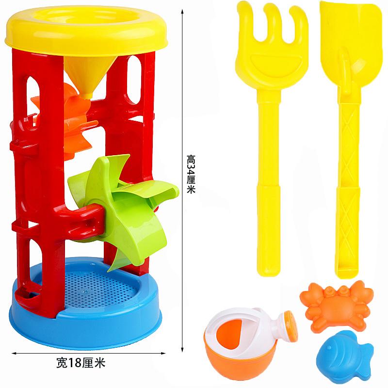 儿童沙滩玩具车套装大号宝宝玩沙子挖沙漏铲子工具决明子婴儿玩具