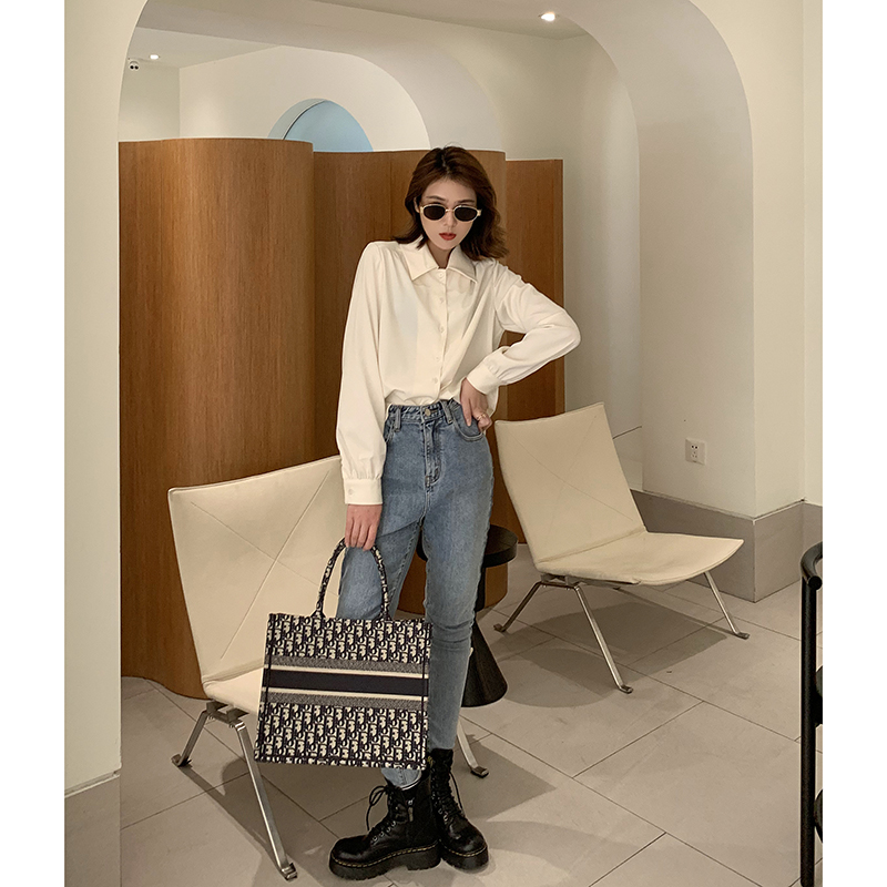 韩国绒五色选小翻领纯色简约单排扣衬衫 姐自制  K 纸片人衬衫