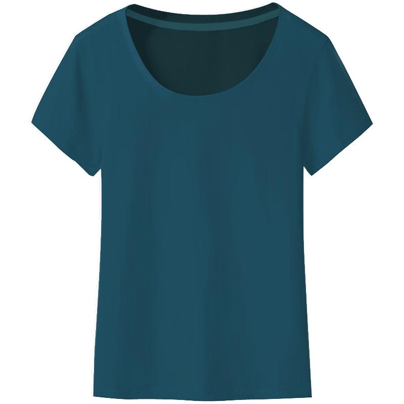 纯白色短袖t恤女士夏装2020新款洋气纯色半袖修身体恤夏季纯棉t桖