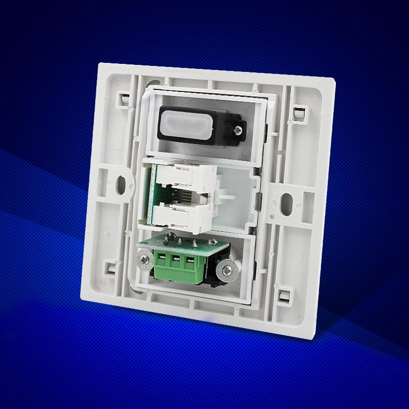 86型墙壁式HDMI高清插座电脑网络模块VGA音视频面板卡农话筒插座