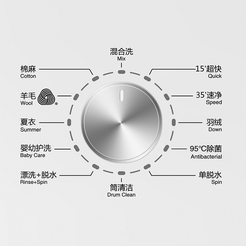 Hisense/海信 XQG80-S1229FW 8公斤变频静音全自动家用滚筒洗衣机