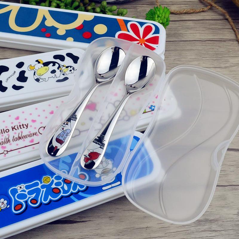 儿童餐具盒学生筷子盒韩国叉勺筷盒旅行装筷子勺子便携式收纳盒子