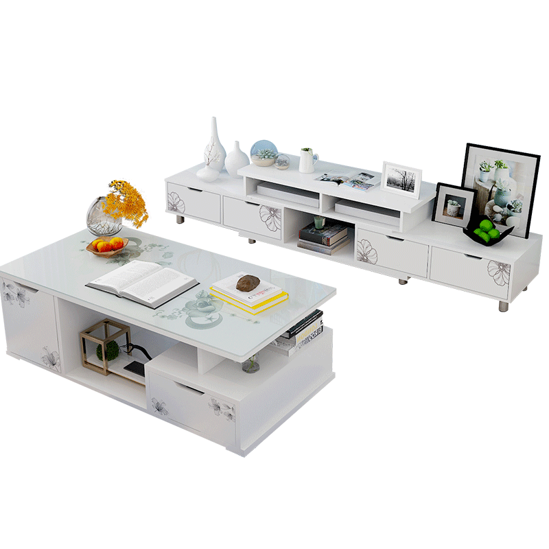 电视柜茶几家具组合套装现代简约伸缩客厅卧室北欧小户型电视机柜