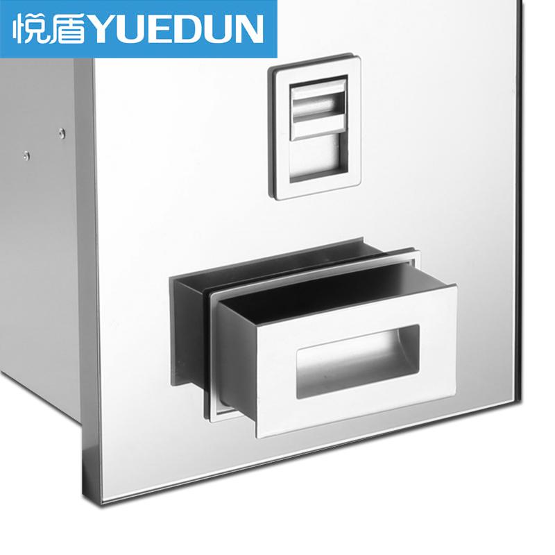 不锈钢自动计量抽拉式米箱 304 嵌入式米桶厨房橱柜储米柜 米柜