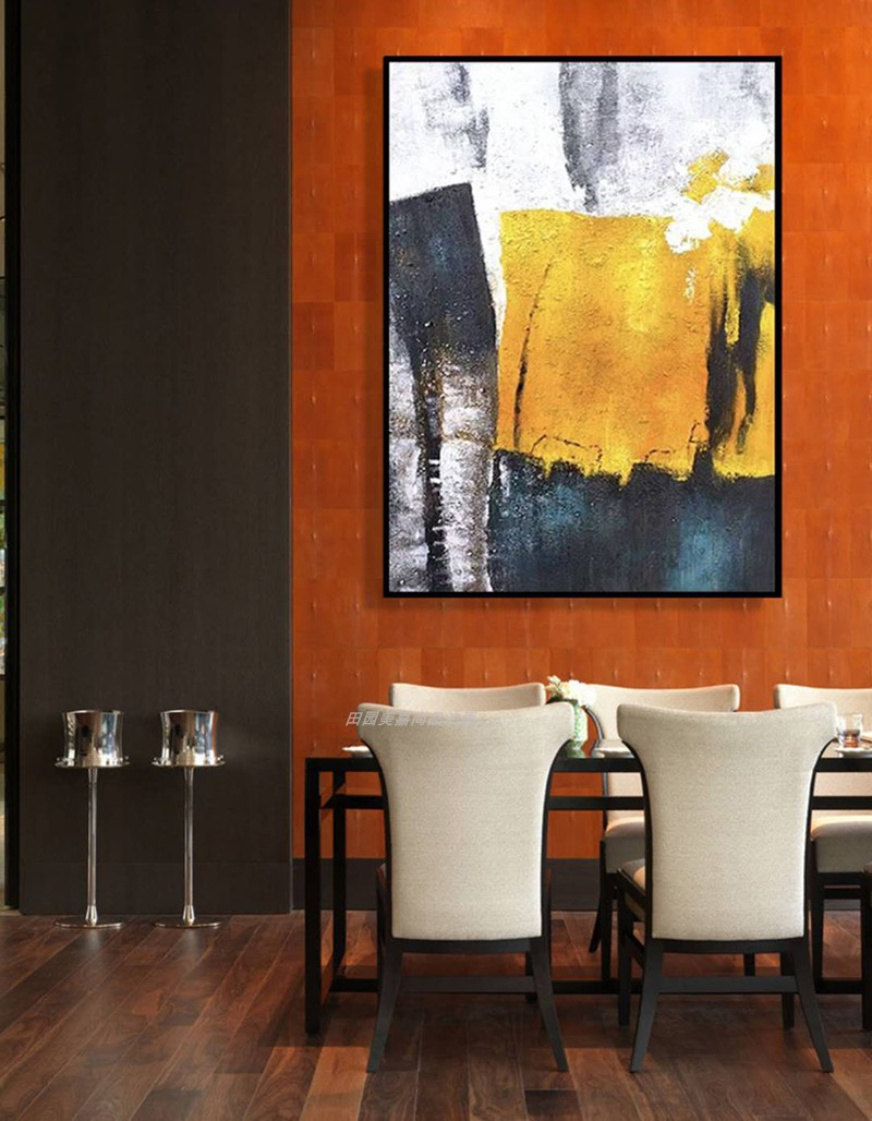 玄關客萬現代簡約背有靠山家和萬事興客廳裝飾畫法式鴻運當頭油畫
