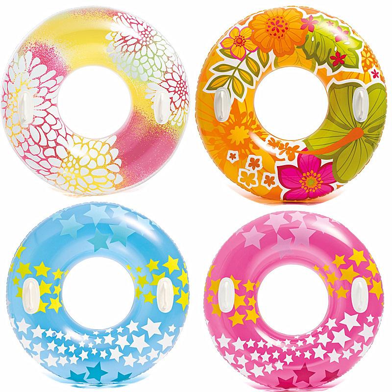 成人兒童游泳圈甜甜圈水上充氣浮排男女兒充氣座圈浮圈救生圈加厚
