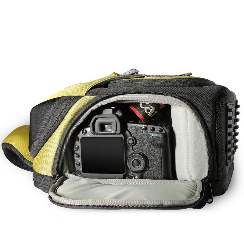 单反相机包数码专业单肩斜挎便携小男女佳能微单三角休闲摄影背包