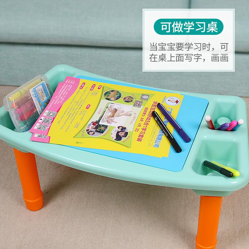 娃娃博士楽高积木拼装玩具3男孩益智大颗粒6-8岁女孩10儿童积木桌