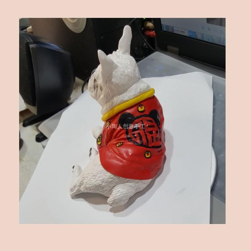 照片定制创意手工软陶宠物狗狗猫咪公仔玩偶模型去世生日纪念礼品