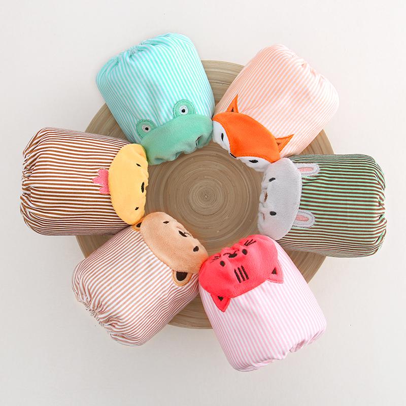宝宝袖套秋冬水晶绒婴幼儿童防脏套袖男女小孩短款婴儿护袖萌包邮