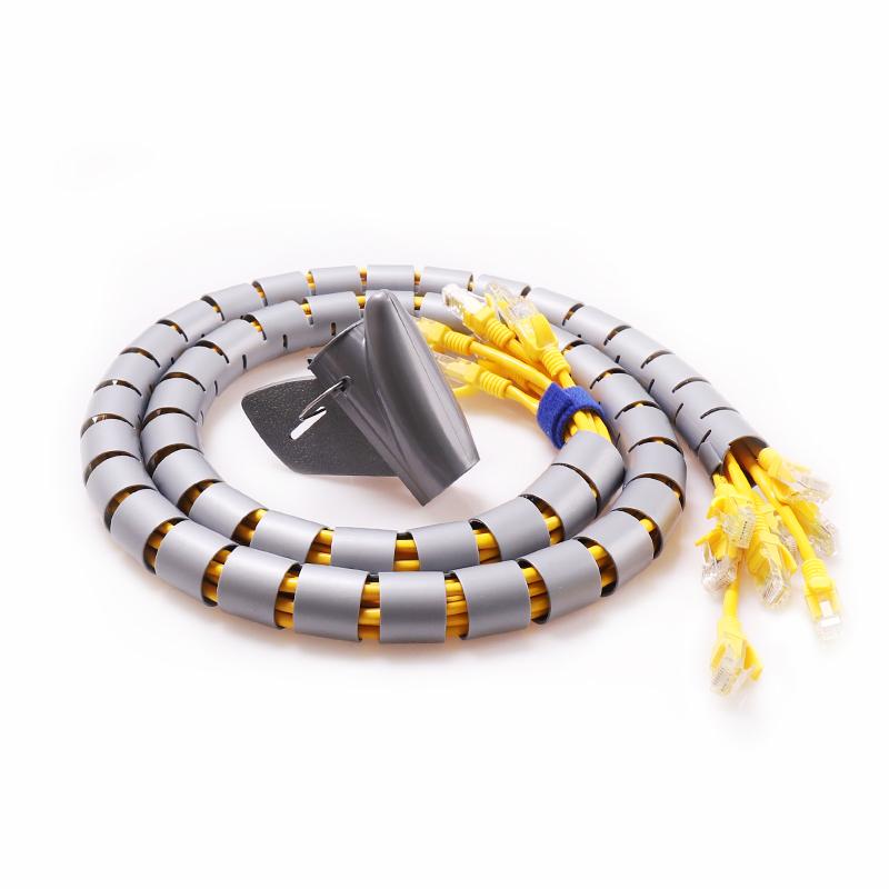 理线包线管电线保护管电脑线收纳整理束集线套缠绕线管理线器防咬