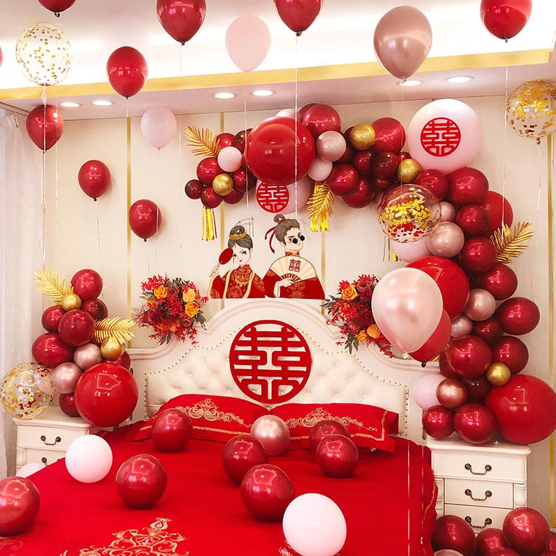 婚房布置套装结婚新房装饰套餐网红男方女方卧室婚礼气球婚庆用品 No.1