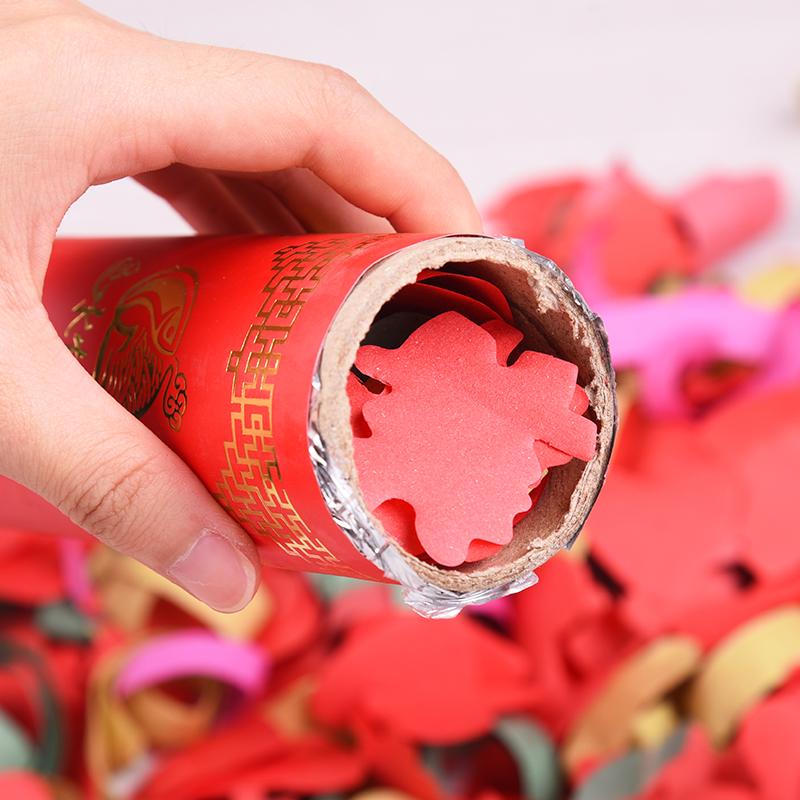 婚庆用品婚礼礼花彩花喷花筒喷彩带花瓣雨手持结婚喷花筒礼炮彩炮