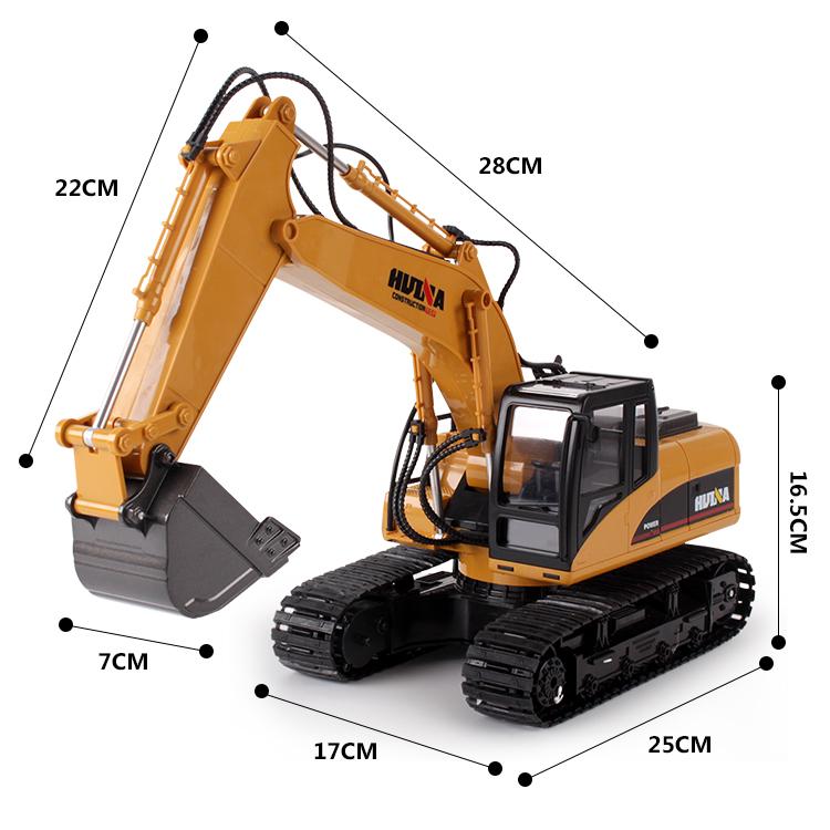 遥控挖掘机充电动合金工程车模型大号无线儿童挖土机玩具钩机男孩