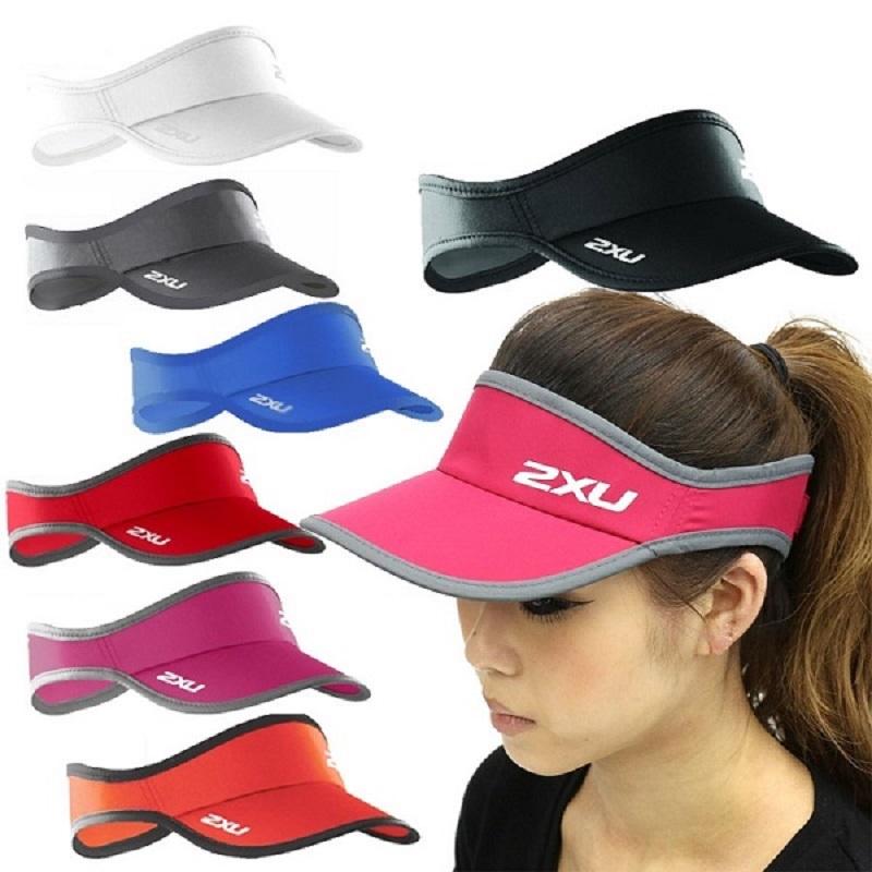 18春夏季新款 澳洲 2XU Run Visor 快乾空頂跑步帽 無頂帽空心帽
