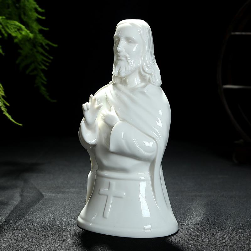 基督耶稣教高档礼品正品新款客厅陶瓷徒摆件主内家居十字架装饰品
