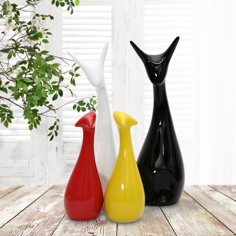 四口鹿之家現代創意電視櫃工藝品陶瓷擺件臥室家居裝飾品簡約擺設